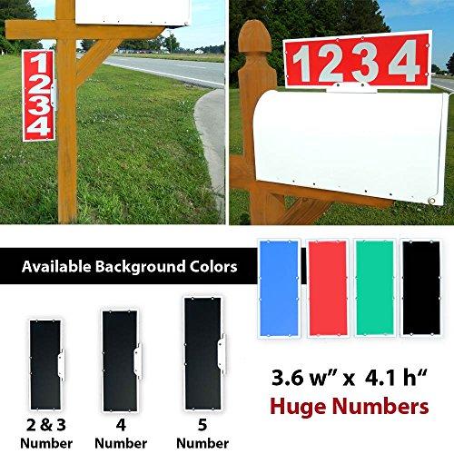 Mailbox Address Plaque, Red Horizontal ,Reflective 911 Plate, Most Visible Mailbox Address Marker Money Can (Mailbox Address Topper)