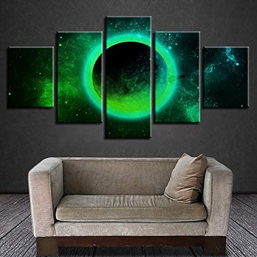 mmwin Modern HD Impreso Wall Art On Canvas 5 Panel Green Planet ...