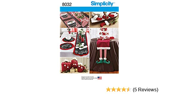 8032 Simplicity Patterns Entertaining Accessories Size: Os One Size