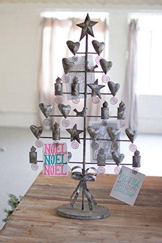 Kalalou Rustic Grey Metal Christmas Card Tree - Grey Christmas Card