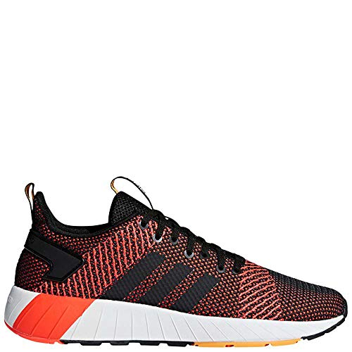 adidas Men's Questar BYD Running Shoe, Black/White/Solar red, 11.5 M US