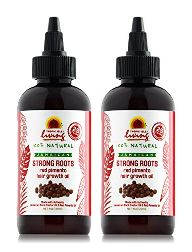 Tropic Isle Living Jamaican Strong Roots Red Pimento Hair Growth Oil 4 oz (Pack of 2) by Tropic Isle Living