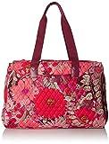 Vera Bradley Women's Triple Compartment Travel Bag, Bohemian Blooms Claret