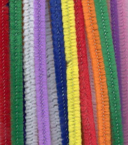 NiceButy Fili Ciniglia bambini puzzle twist Sticks 100pcs colore in peluche in pelle bricolage materna a mano materiale bambini creativi giocattoli educativi diy art Doll fai da te materiali
