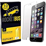 10-Pack Tempered Glass Screen Protector for iPhone 8 Plus 7 Plus Cell Phone
