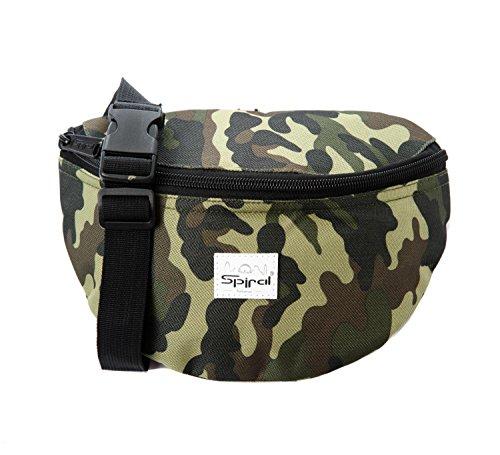 Spirale Unisex Camo Jungle Harvard Bum Tasche, mehrfarbig, klein