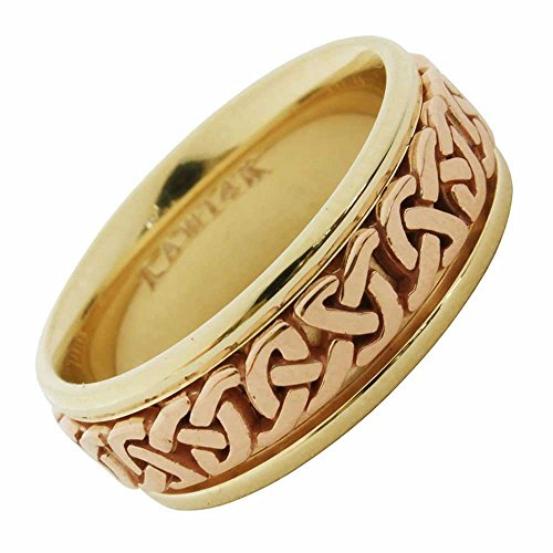 18K Two Tone Gold Celtic Love Knot Women