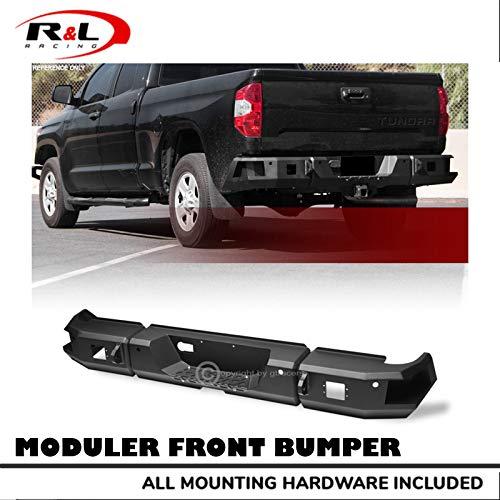 R&L Racing Black Modular Rear HD Bumper Raptor Style Full Width Steel 2014-2019 for Toyota Tundra