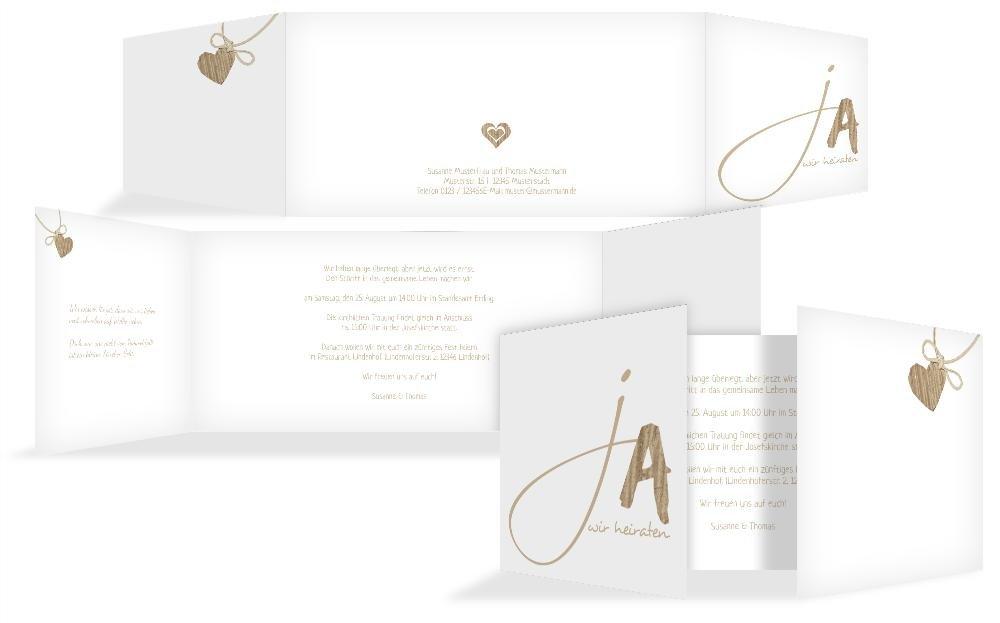 Hochzeitskarten  Einladung natürlich Ja 2, hochwertige Einladung zur zur zur Heirat inklusive Umschläge   30 Karten (format  148.00x105.00mm) Farbe  Braun B074V7MYTF | Zu verkaufen  | Starke Hitze- und Abnutzungsbeständigkeit  | Vielfalt  459dff