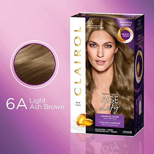 Clairol Age Defy Expert Collection, 6A Light Ash Brown, Permanent Hair Color, (3 pack) (PACKAGING MAY VARY)