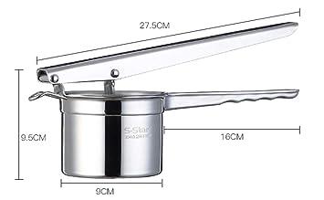 Ailihan Máquina de presión manual de 304 acero inoxidable exprimidor presurizado a casa de puré de papas: Amazon.es: Hogar