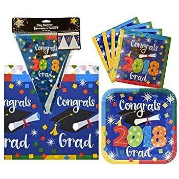 graduation paper plates and napkins