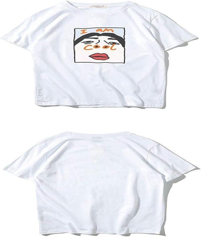 HNOSD Camiseta Divertida Camiseta cómoda Hombres Cuello Camiseta Harajuku Coreano Hombres Camisetas: Amazon.es: Ropa y accesorios
