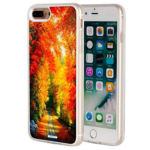 iPhone 8 Plus Case,iPhone 7 Plus Case,AIRWEE Clear Bumper Autumn Fall Leaves Pattern Anti-Scratch Slim Soft TPU Back Protective Cover Case for Apple iPhone 7 Plus/8 (Autumn Leaves Pattern)