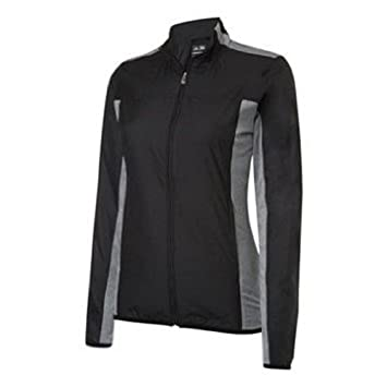 adidas Mixed Media Wind Mujer Chaqueta - Negro/Blanco, large: Amazon.es: Deportes y aire libre