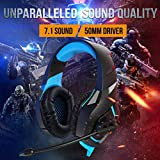RUNMUS Gaming Headset PS4 Headset with 7.1 Stereo Surround Sound, Xbox One Headset with Noise Canceling Mic, Works On PC, PS4, Xbox One (Adapter Needed)