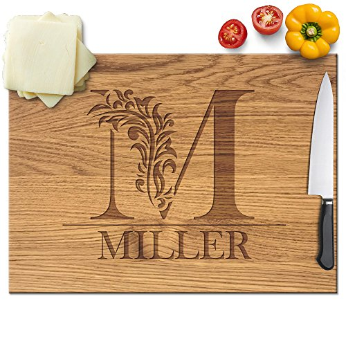 Monogram custom cheese board