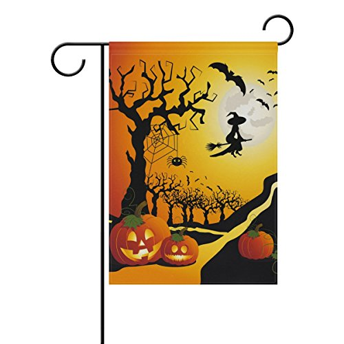 halloween witch pumpkin double sided