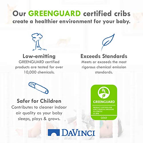 516ucNSYKUL - DaVinci Autumn 4-in-1 Convertible Crib In Slate, Greenguard Gold Certified