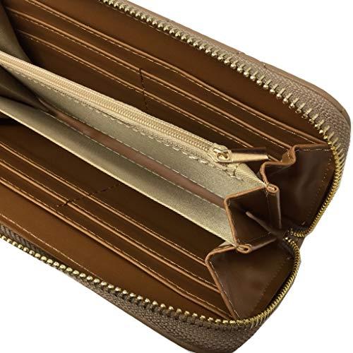 Moda Cartera Caqui Por Cuero Bandolera Moderno Idea Práctico Cada Monedero Día Zapato Elegante Cómodo Mujer Borse Liso Almacenamiento Acolchado Angkorly Regalo Sobrio Múltiple De 56qRxgfw