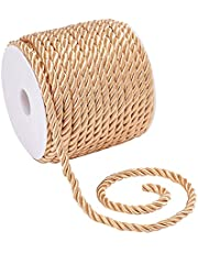 PH PandaHall 3-Ply Twisted Cord Braided Cord Decorative Twine Cord for Curtain Tieback Upholstery Gift Bag Costume Honor Cord