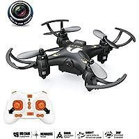 Mini Drone, Sokos Quadcopter With Camera, Nano UAV Headless Mode with 0.3MP Camera 2.4GHz 4CH 6-Axis Gyro RC Quadcopter RTF 3D-flip