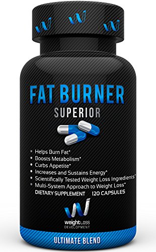 FAT BURNER SUPERIOR Weight Loss Supplements - Garcinia Cambogia BioPerine Blend - Thermogenic Fat Burners Without Crash - Vegan, Non GMO, Veggie Diet Pills For Men & Women - 120 Capsules