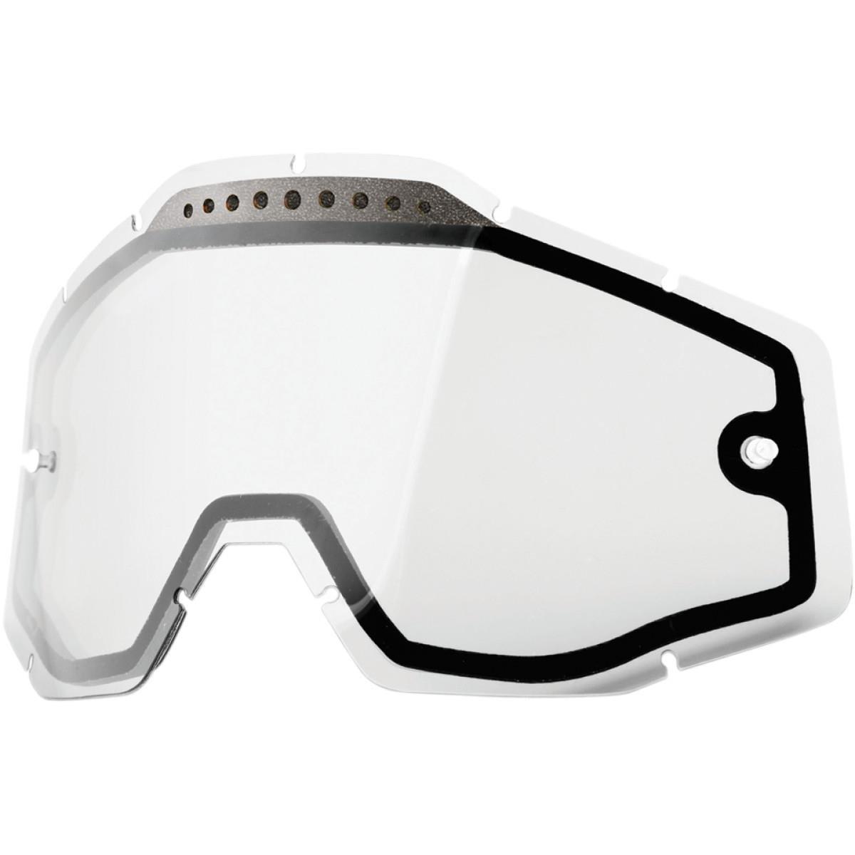 100% Race Craft/Accuri/Strata Vented Dual Pane lente de Anti Niebla, Clear, One size 51006-010-02