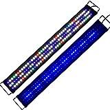 """KZKR Upgraded Aquarium LED Light Full Spectrum 36""""-48"""" Hood Lamp for Freshwater Marine Plant Multi-Color Decorations Light"""