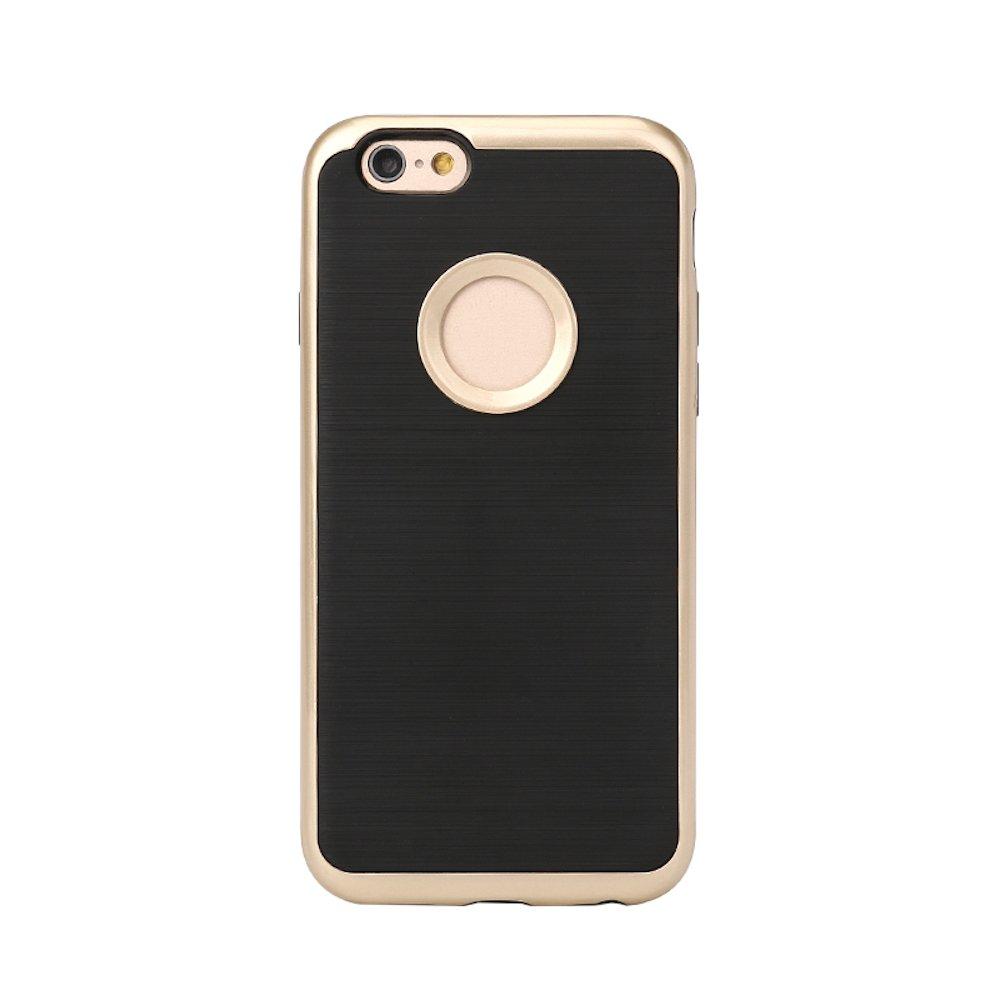 iPhone 7ケース、KingsNetハイブリッドハード2 in 1 PC + TPUフレームバックカバー電話ケースfor iPhone 7(2016) - ブラックとゴールド   B01M11DNAA