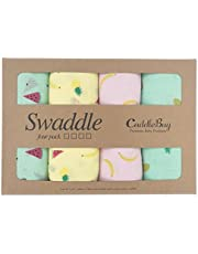 Muslin Baby Swaddle Blankets for Boys and Girls - by CuddleBug - Size Large 4 x 4 Feet – Muslin Cotton 4 Pack