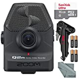 Photo Savings Zoom Q2n Handy Video Recorder Bundle with Tripod + 16 GB SD Card + AA Batteries + Fibertique Cleaning Cloth