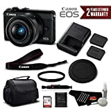 Canon EOS M100 Mirrorless Digital Camera with 15-45mm Lens (Black) 2209C011 International Version - Standard Bundle