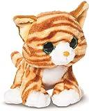 Candies Plüschtier rot - weiß getigerte Katze Butterscotch, Kuscheltier mit Glitzeraugen Plüschkatze ca. 18 cm, im Set mit 7ml Bodybutter