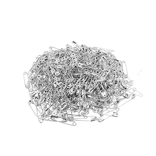 (ChooseU 1000 pcs Small Nickel Plated Safety pins 4/5'' Length (19mm) wholesales for Garment Hang tag DIY Safety Pins Brooch Jewelry Accessory Colors Jewelry Accessories (Silver))