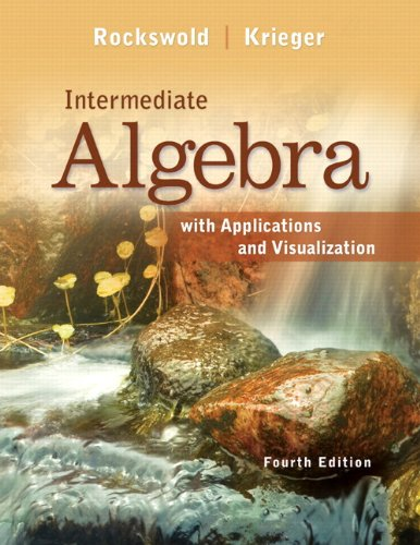 Intermediate Algebra with Applications & Visualization Plus NEW MyLab Math with Pearson eText -- Access Card Package (4th - Package Algebra