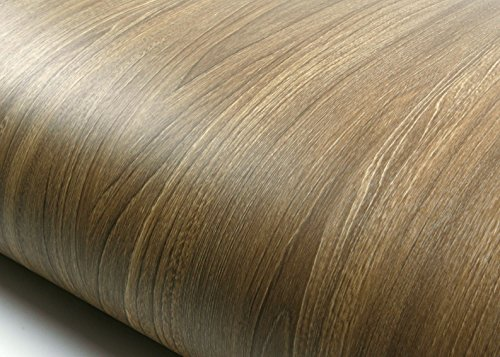 ROSEROSA Peel and Stick Flame Retardant PVC Instant Premium Wood Decorative Self-Adhesive Film Countertop Backsplash Deluxe Oak (SPF528(4211-3) : 2.00 Feet X 6.56 -