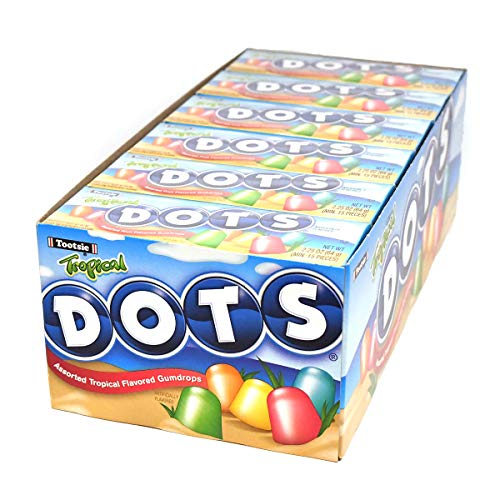 Tropical Dots Assorted Fruit Candy, 24 2.2-Oz. - Ounce 2.2 Boxes