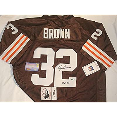 san francisco e3b89 a2706 Jim Brown Autographed Signed Inscribed Mitchell Ness ...