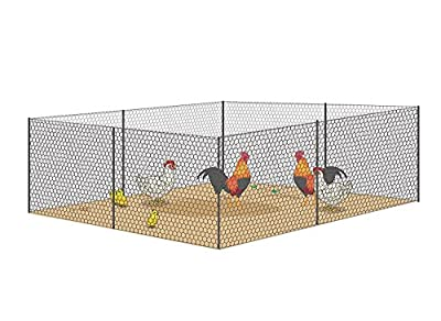 V Proteck Mesh Galvanized Fence Wire Poultry Netting Gutter Guards Chicken Run Rabbit Fencing to Keep Out Racoons Gophor Snakes Green W 36 InchxL 12Ft With Post