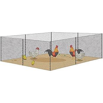 Amazon.com : V Protek Mesh Galvanized Fence Wire Poultry Netting 36 ...