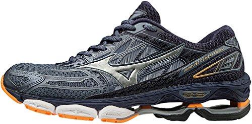 Mizuno Men's Wave Creation 19 Running Shoes, Blue Grey (Folkstonegray/Silver/Eclipse 01)