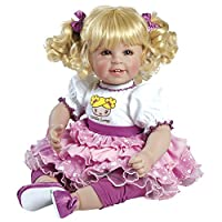 """Adora Toddler Little Lovey 20"""" Girl Weighted Doll Gift Set For Children 6+ Huggable Vinyl Cuddly Snuggle Soft Body Toy"""