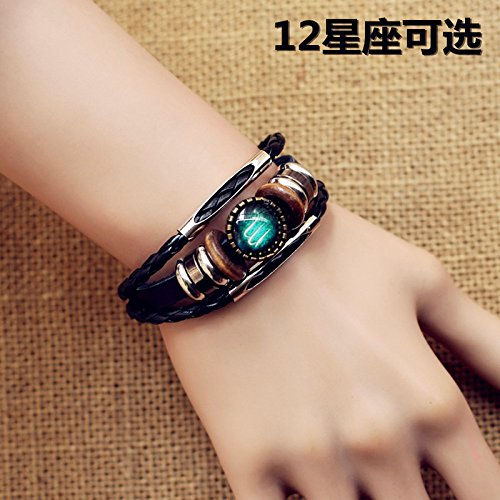 Cool retro friendship bracelets boyfriend fashion lovers Korean version of the multi-function fine Magnificent knitting Zodiac
