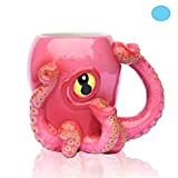 Ceramic Pink Octopus Coffee Mug - As seen on