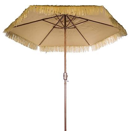 Amazon Com Bayside 21 Thatch Umbrella Tiki Hut Hawaiian Hula