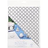 Darice 1404-290 Printable Starburst Seal Sticker, 3/4-Inch, Silver, 432-Pack