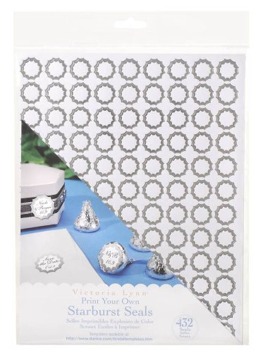 - Darice 1404-290 Printable Starburst Seal Sticker, 3/4-Inch, Silver, 432-Pack
