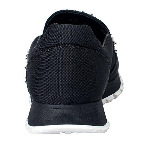 Mocassini Prada Da Donna Con Paillettes Decorate Mocassini Slip On Shoes Neri