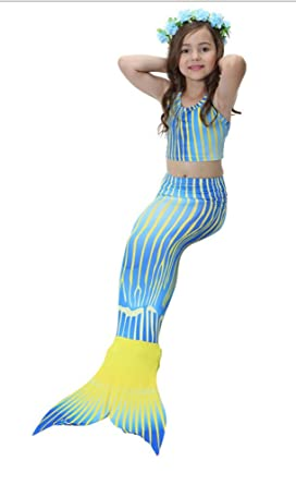 Bow Kids Mermaid Costume Girls Mermaid Swimsuit Girls Swimming